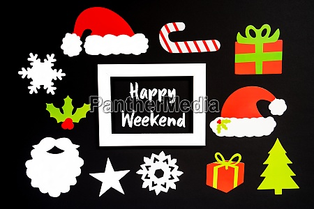 frame christmas decoration accessories text happy