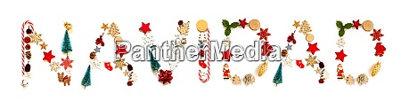 colorful christmas decoration letter building navidad