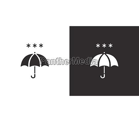 umbrella and heavy snow isolated icon