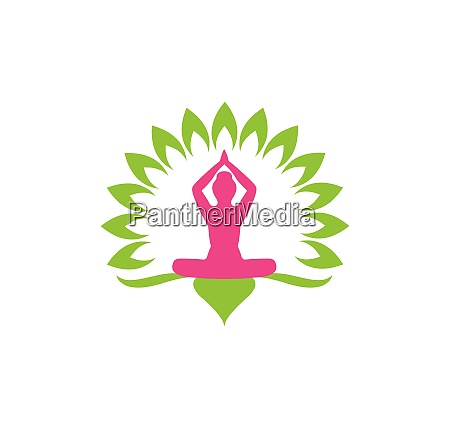 meditation logo template vector icon