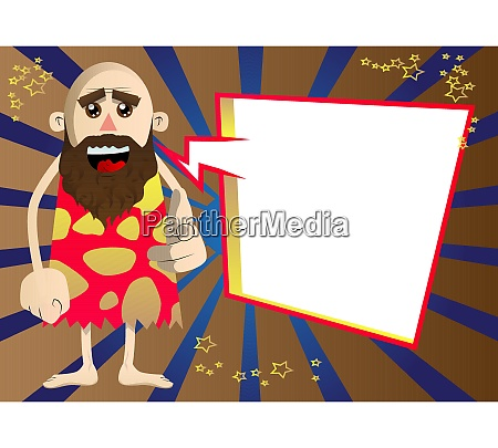 caveman pointing at the viewer with