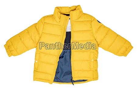 down jacket for children stylish yellow