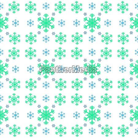 seamless pattern of snowflake on white