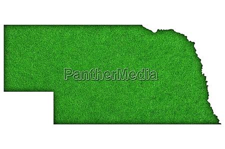 map of nebraska on green felt