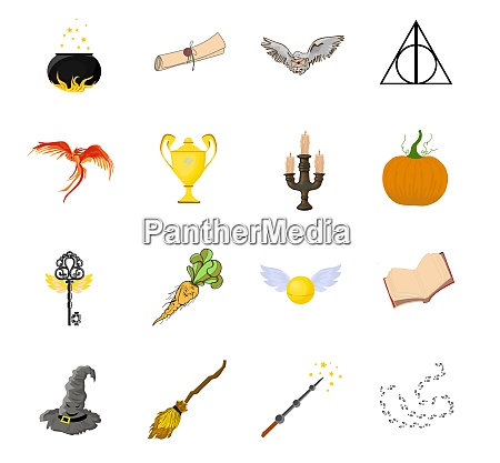 a set of magic items witchcraft