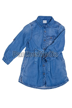denim dress isolated close up of
