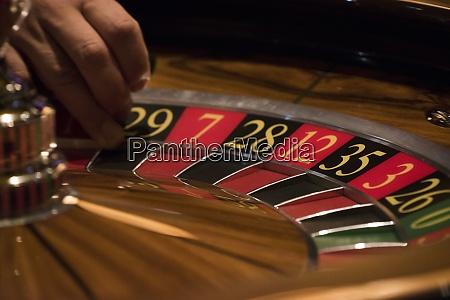 roulette game in a casino