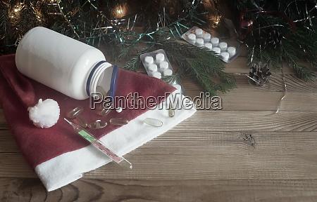 christmas in medicine pills and christmas