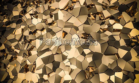 geometric mosaic background gold color