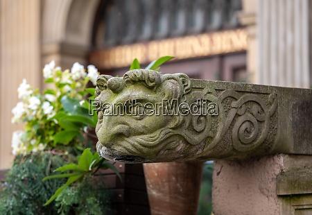 gargoyle at mariacka street in gdansk