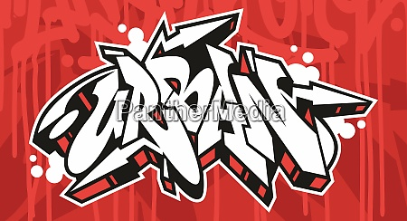 abstract urban graffiti font lettering with