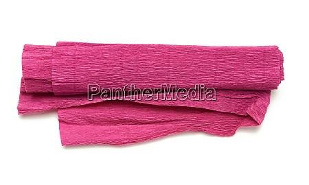 roll of red corrugated wrapping paper