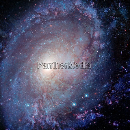 spiral galaxy deep cosmos outer space