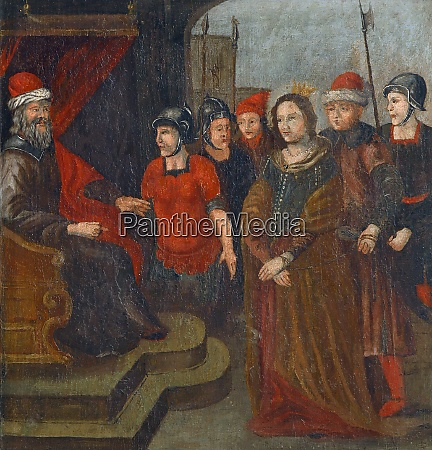 saint barbara in front of a