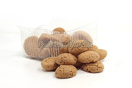 open pack of amaretti biscuits open