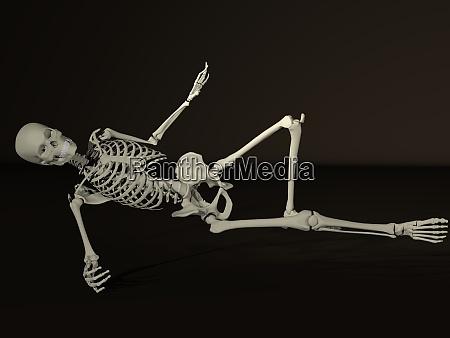3d rendered dancing skeleton