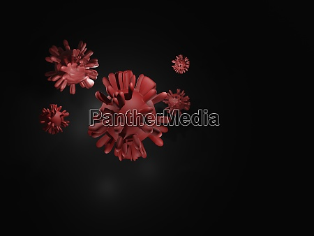 3d rendered virus