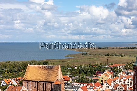aerial, view, of, frombork, and, vistula - 28954393