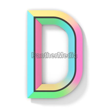 neon color bright font letter d