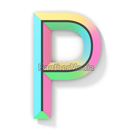 neon color bright font letter p