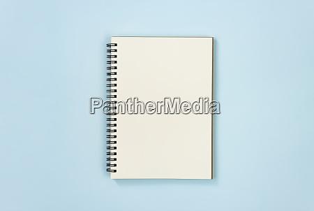 spiral notebook or spring notebook on