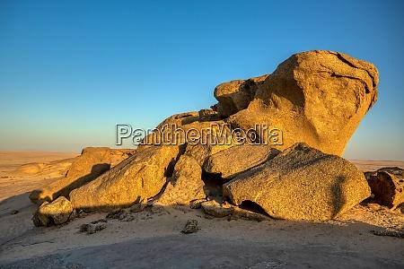 rock formation in namib desert in