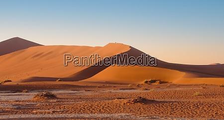 sand dunes at sossusvlei namibia