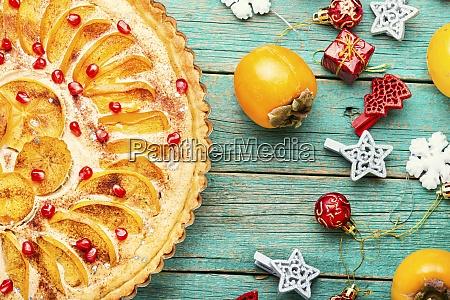 christmas persimmon cake