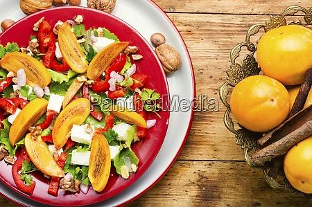 fresh persimmon salad