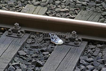 shoe at railroad