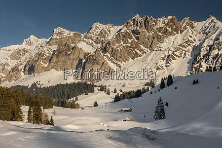 alpstein massif with mountain saentis in
