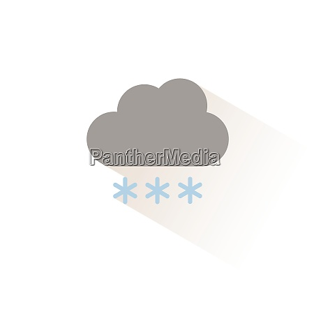 cloud and snow isolated color icon