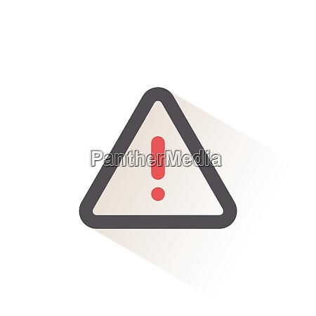 danger sign isolated color icon weather