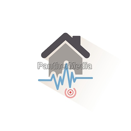 earthquake pictogram isolated color icon weather