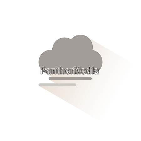 fog and cloud isolated color icon