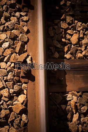 railroad track with stones