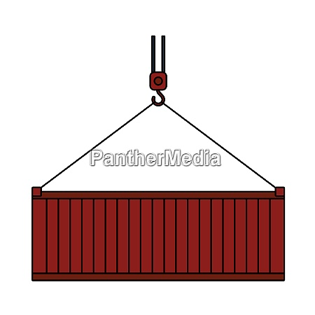 crane hook lifting container