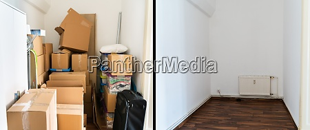 parcel storage room decluttering