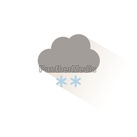 snow and cloud isolated color icon