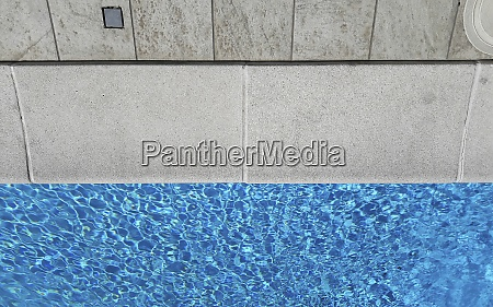 detail of a beautiful swimming pool