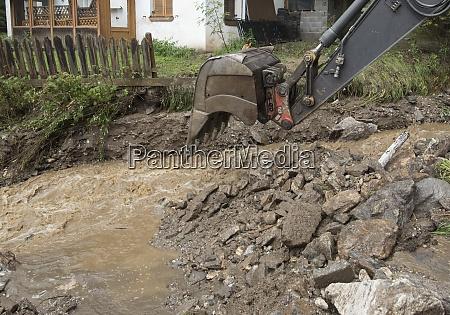 storm damage caused by mudslides