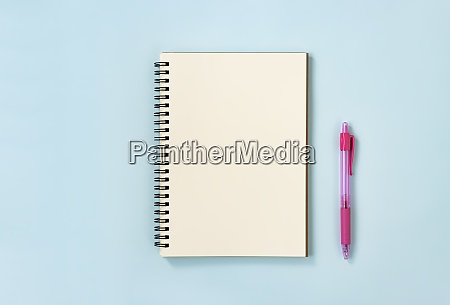 spiral notebook or spring notebook and