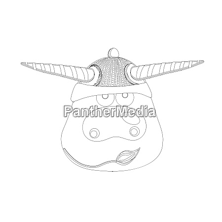 coloring page ox cow or bull