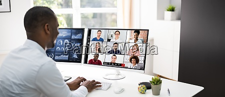 online video conference learning webinar meeting