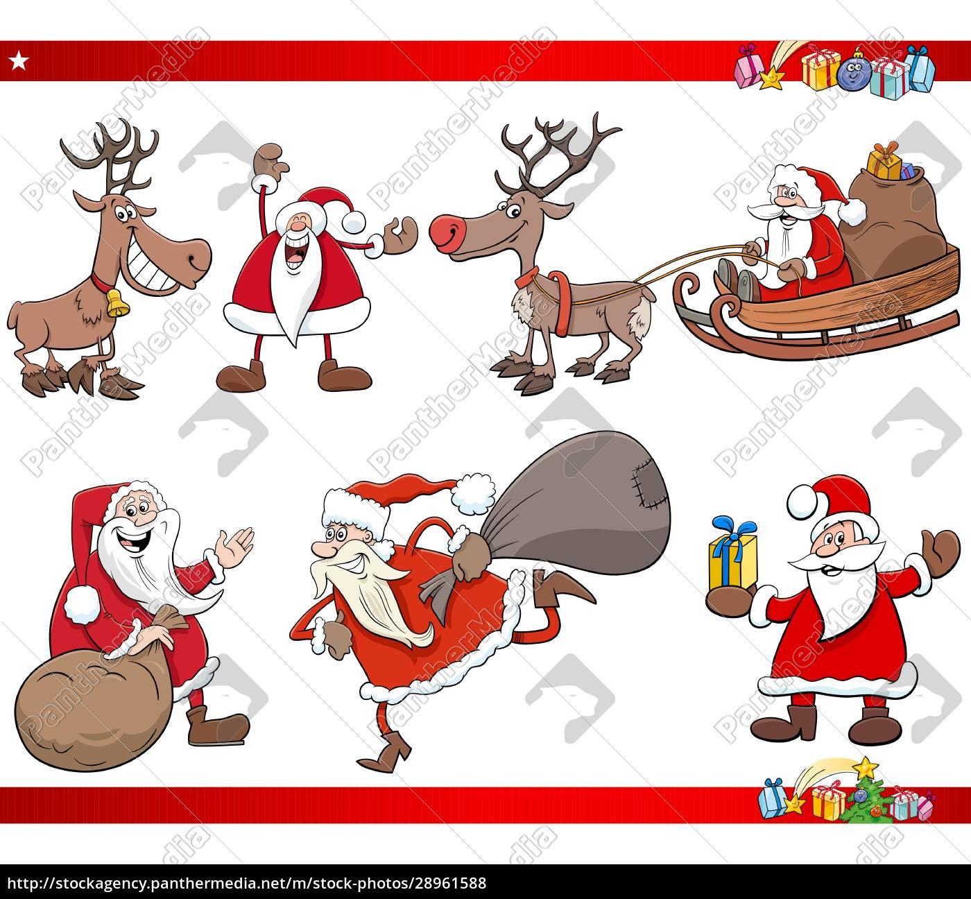 cartoon, santa, claus, christmas, holidays, characters - 28961588