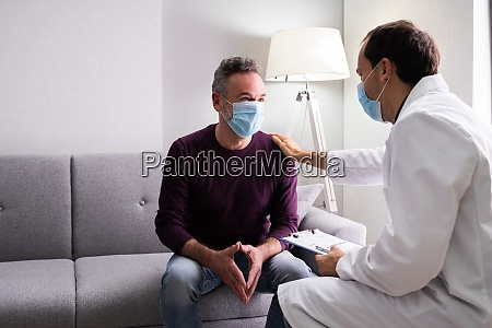 doctor and senior patient living in