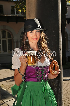 young woman in a dirndl