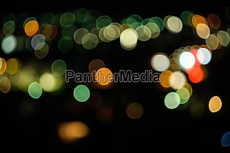 coloured bokeh lights