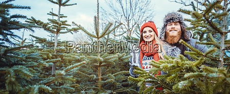 couple, having, fun, at, the, christmas - 28963826