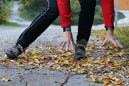 danger of slipping in autumn and